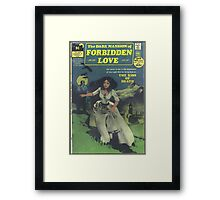 Dark Mansion Of Forbidden Love Design 2 Retro Goth Framed Print