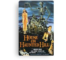 House On Haunted Hill Retro Horror Design Canvas Print