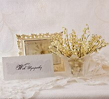 Dried Lily Of The Valley Flowers - With Sympathy Card by Sandra Foster