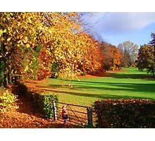 colours of autumn Photographic Print