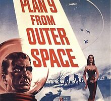 Plan 9 From Outer Space Retro Horror Design by MrDarksnasty