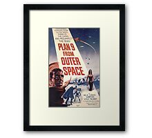 Plan 9 From Outer Space Retro Horror Design Framed Print