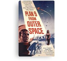 Plan 9 From Outer Space Retro Horror Design Canvas Print
