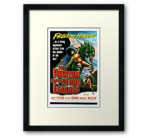 Phantom From 10,000 Leagues Retro Horror Design Framed Print