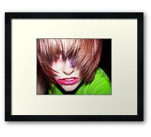 colour shock Framed Print