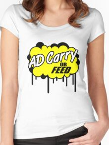 League of Legends: AD Carry or Feed Women's Fitted Scoop T-Shirt