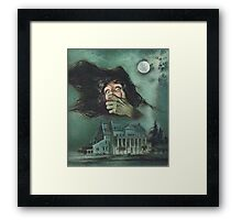 Retro Gothic Horror Design Framed Print