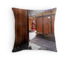 Geisha Spotting - a Gaijin pasttime Throw Pillow