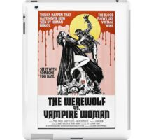 Werewolf vs Vampire Woman Retro Horror Design iPad Case/Skin