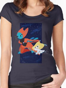 Pokemon - Jirachi and Deoxys Women's Fitted Scoop T-Shirt