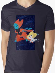 Pokemon - Jirachi and Deoxys Mens V-Neck T-Shirt