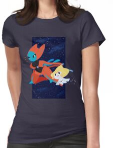 Pokemon - Jirachi and Deoxys Womens Fitted T-Shirt