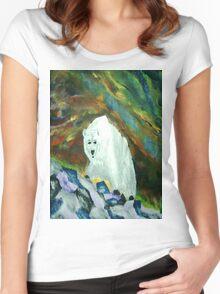 Polar Bear Aurora Women's Fitted Scoop T-Shirt