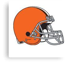 cleveland brown helmet Canvas Print