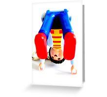 Plastic Yoga. Greeting Card