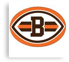 cleveland brown logo Canvas Print