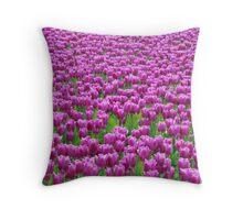 Field of purple Throw Pillow