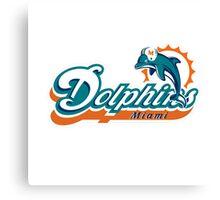 miami dolphins logo old Canvas Print