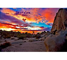 Joshua Tree National Park Sunset 1 Photographic Print