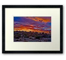 Joshua Tree Sunset 2 Framed Print