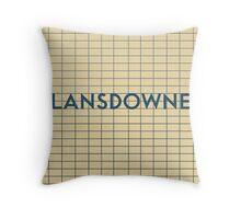LANSDOWNE Subway Station Throw Pillow