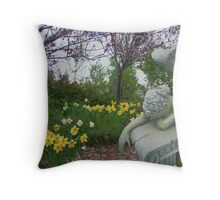 Weeping Angel © Throw Pillow