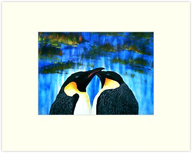 Penguin Love by George Hunter