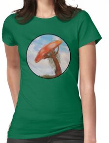 Mushroom in a Circle Womens Fitted T-Shirt