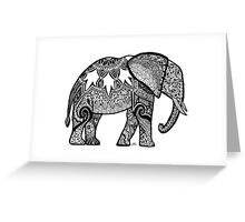 Patterned Elephant Greeting Card