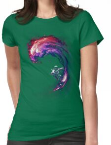 Space Surfing II Womens Fitted T-Shirt