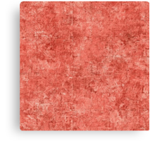 Coral Oil Painting Color Accent Canvas Print