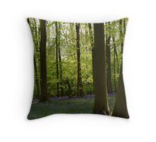 Sunlit Bluebells Throw Pillow