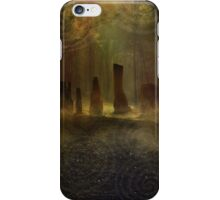 Standing Stones I - Gold iPhone Case/Skin