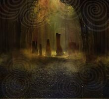 Standing Stones I - Gold by Georgina Gibson