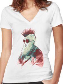Evolution of Charles Women's Fitted V-Neck T-Shirt