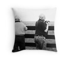 Monochrome Photographers Throw Pillow