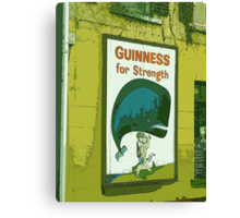 { guinness for strength } Canvas Print