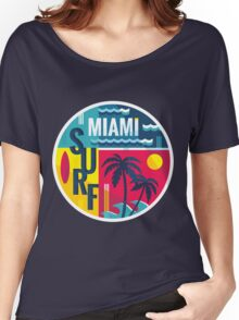 Surf Miami color badge for T-Shirt Women's Relaxed Fit T-Shirt