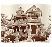 Wood-Hughes House, Brenham Poster