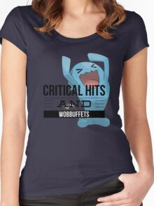Critical Hits and Wobbuffets! Women's Fitted Scoop T-Shirt