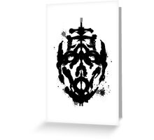 Inkblot Test, Verdict Psycho Greeting Card