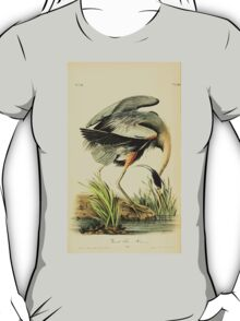 James Audubon Vector Rebuild - The Birds of America - From Drawings Made in the United States and Their Territories V 1-7 1840 - Great Blue Heron T-Shirt