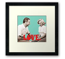 Retro Love. Marilyn & Joe Framed Print