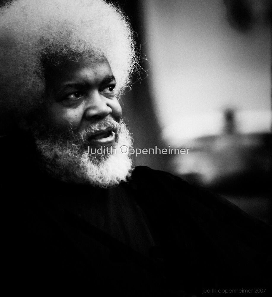 Jazz Man - Portrait in Black and White, New York City by Judith Oppenheimer