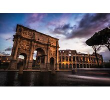 Morning in Colosseum Photographic Print