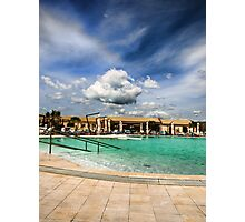 clouds over the swimming pool Photographic Print