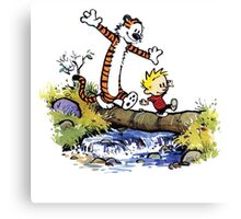 Calvin And Hobbes Funny Custom Artwork Canvas Print