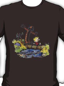 Calvin And Hobbes Funny Custom Artwork T-Shirt
