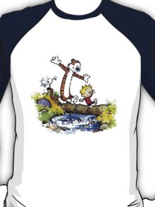 Calvin And Hobbes Funny Custom Artwork T-Shirt