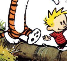 Calvin And Hobbes Funny Custom Artwork Sticker